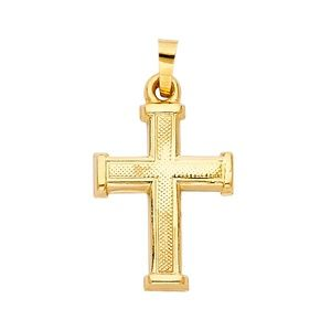 14K Yellow Gold  Religious Cross Pendant